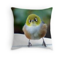 Little boy lost! - Silvereye - Wax Eye - New Zealand Throw Pillow