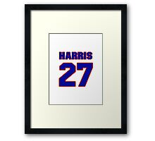 National football player Odie Harris jersey 27 Framed Print
