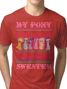 My Pony christmas sweater Tri-blend T-Shirt
