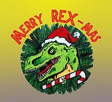 Merry Rex-Mas by VannaLynn69