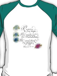 Colorful daisies and Inspirational verse Romans 12:2 T-Shirt