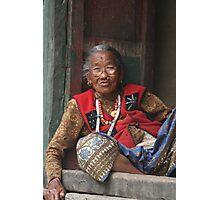 Himalayan woman Photographic Print