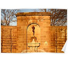 Fountain Sculpture Poster