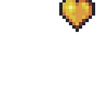 Terraria golden heart by shipitlikefedex