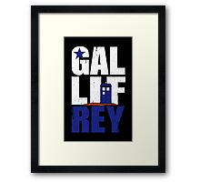 Time Lord Republic of Galifrey Framed Print