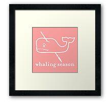 Whaling Season: Vineyard Vines Sucks White Logo Framed Print
