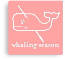 Whaling Season: Vineyard Vines Sucks White Logo Canvas Print