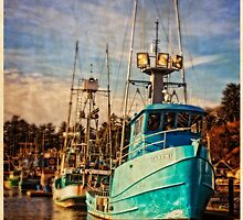 Yaquina Bay Fishing Boats by Thom Zehrfeld