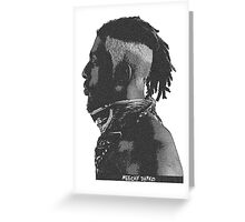 Flatbush Zombies Print - Meechy Darko Greeting Card