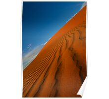 Textures in the sand - Big Red Simpson Desert Poster