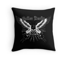 Roller Derby Infirmary (white) Throw Pillow