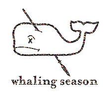 Whaling Season: Vineyard Vines Sucks Floral Logo Photographic Print