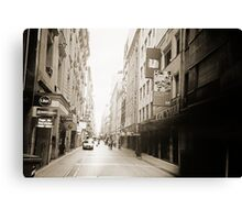 City Street Lomo Argentina Canvas Print