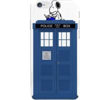 Snoopy on Tardis iPhone Case/Skin