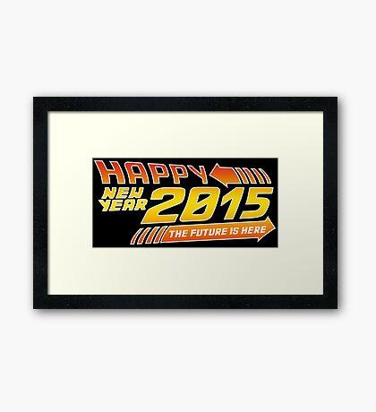 Back to the 2015 Framed Print