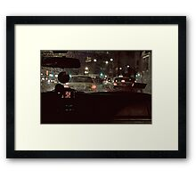 BACK-SEAT DRIVER Framed Print