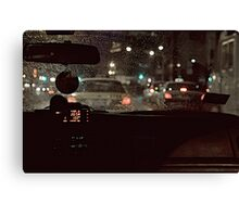 BACK-SEAT DRIVER Canvas Print