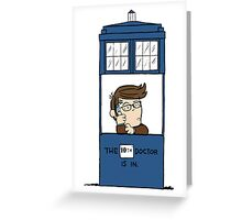 Doctor Who in Peanuts  Greeting Card