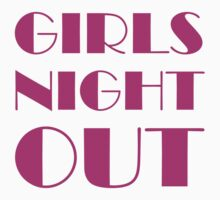 Girls Night Out Pink Kids Clothes