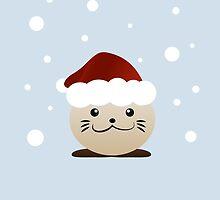 Christmas otter by nightfire61