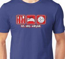 Eat. Sleep. Volleyball. Repeat. Unisex T-Shirt