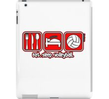 Eat. Sleep. Volleyball. Repeat. iPad Case/Skin