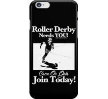Roller Derby Recruiter iPhone Case/Skin