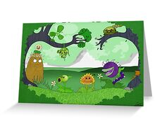 Plants vs Zombies land! Greeting Card