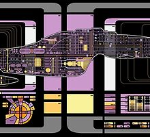Intrepid Class USS Voyager Highly Detailed Schematic by Bmused55