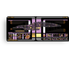 Intrepid Class USS Voyager Highly Detailed Schematic Canvas Print