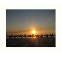 """Those Camels"" Cable Beach,West.Aust Art Print"