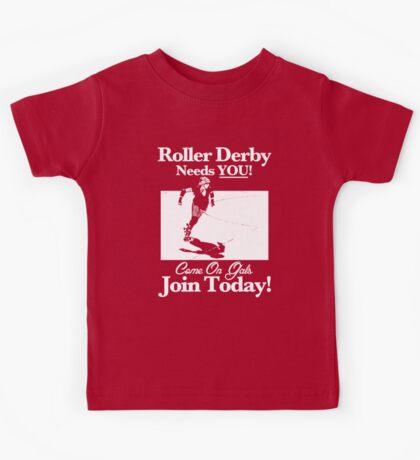 Roller Derby Recruiter Kids Tee