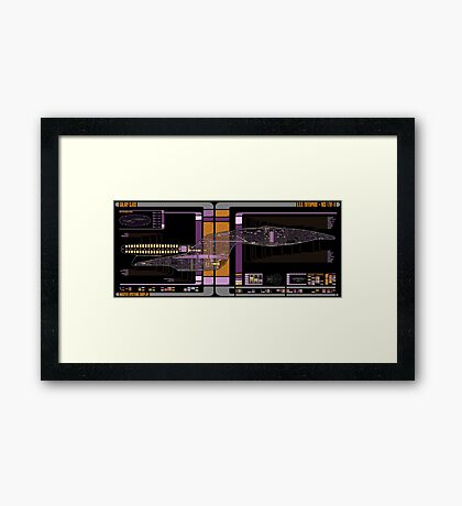 Galaxy Class USS Enterprise Highly Detailed Schematic Framed Print