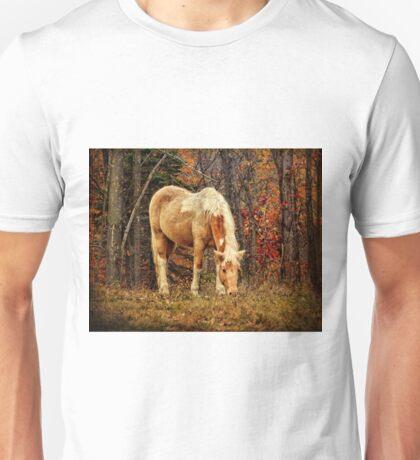Buckskin Horse in Autumn Unisex T-Shirt