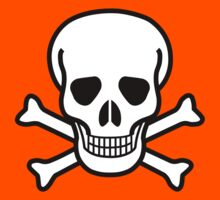 Pirate Skull with crossbones. Lethal danger and poison. Kids Clothes