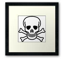 Pirate Skull with crossbones. Lethal danger and poison. Framed Print