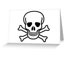 Pirate Skull with crossbones. Lethal danger and poison. Greeting Card