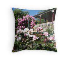 fragrant cottage garden Throw Pillow