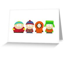 South Park Bus Stop Crew Greeting Card
