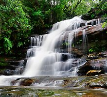 Waterfall from Somersby Falls 16 by wbgraphy