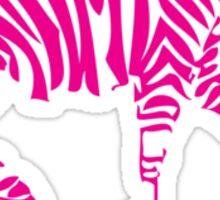 Pink Zebra Sticker