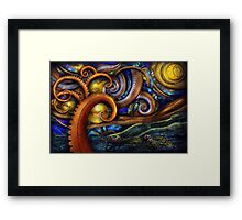 Steampunk - Starry night Framed Print