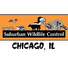 Suburban Wildlife Control - Chicago, IL tee - Orange box version by suburbanwild