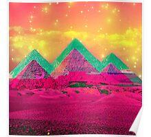 Trippy Pyramids Poster