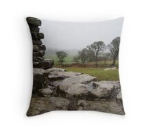 ogmore castle outlook Throw Pillow