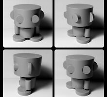 O'bot Collectible Toy by Carbon-Fibre Media