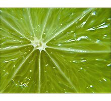 Lime sunburst Photographic Print