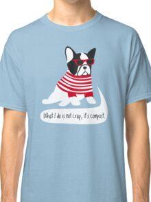 Hipster French bulldog Classic T-Shirt