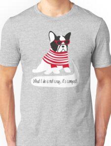 Hipster French bulldog Unisex T-Shirt