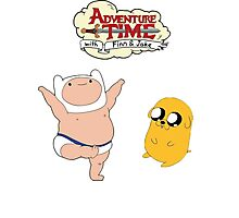 Adventure Time Baby Finn and Jake Photographic Print